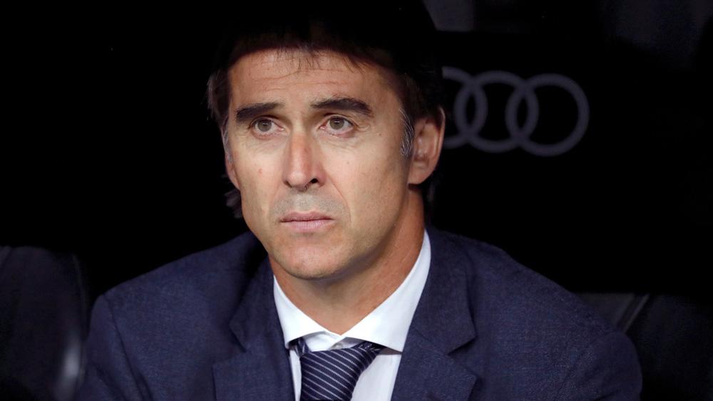 Lopetegui, en el banquillo durante el Real Madrid – Espanyol (EFE).