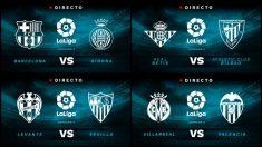 Partidos de la Liga Santander hoy domingo 23 de septiembre.