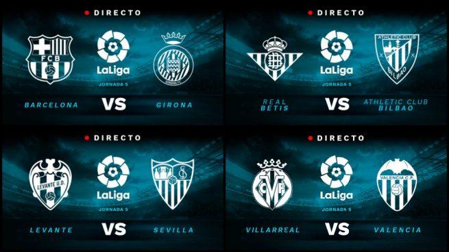 Partidos de fútbol de La Liga Santander hoy, domingo 23 de septiembre