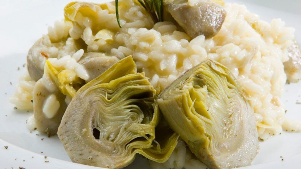 Receta de risotto de alcachofas