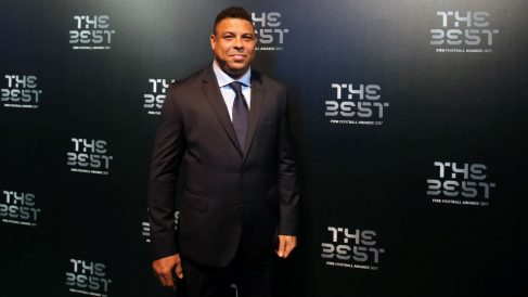 Ronaldo Nazario, en una gala The Best. (Getty)