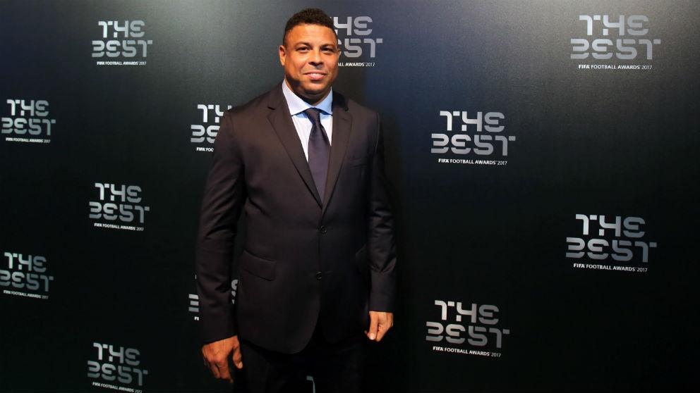 Ronaldo Nazario, en una gala The Best. (Getty)