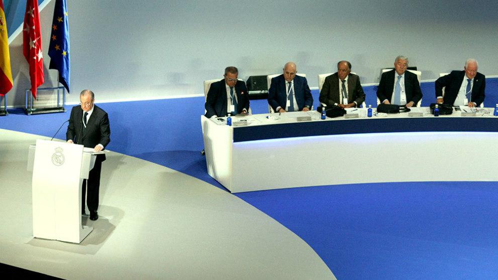 Florentino Pérez, durante la Asamblea General de Socios. (Enrique Falcón)