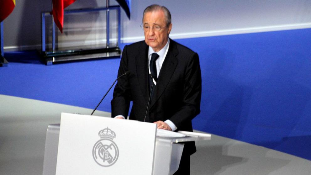 Florentino Pérez, durante la Asamblea de la temporada pasada. (Enrique Falcón)