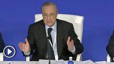 Florentino Pérez volvió a dejar claro que el Madrid no jugará en Estados Unidos. (Enrique Falcón)