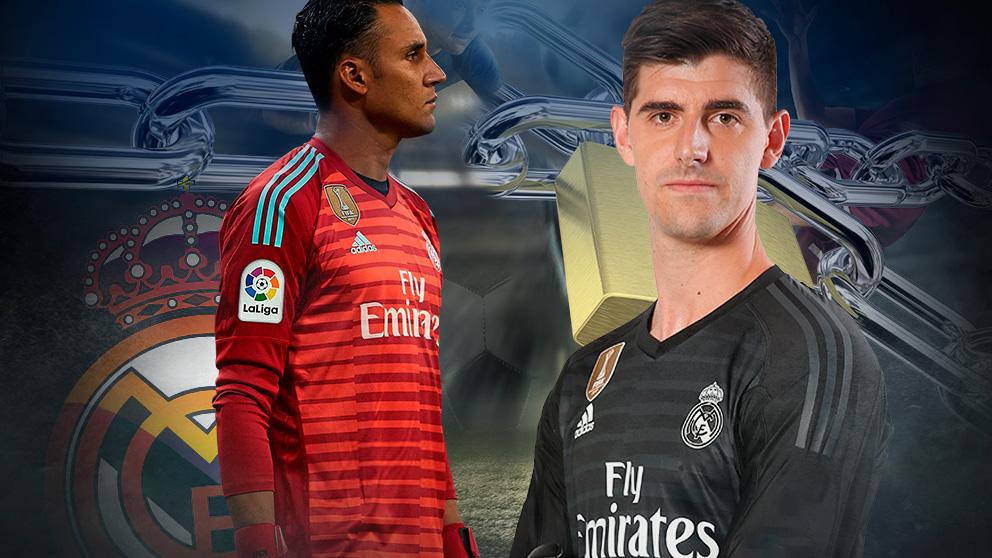 Keylor y Courtois viven una dura pugna por la titularidad en la portería del Real Madrid.