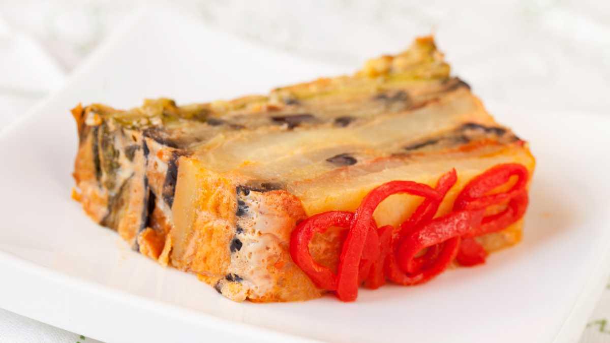 Receta de pastel de pimientos rojos fácil de preparar