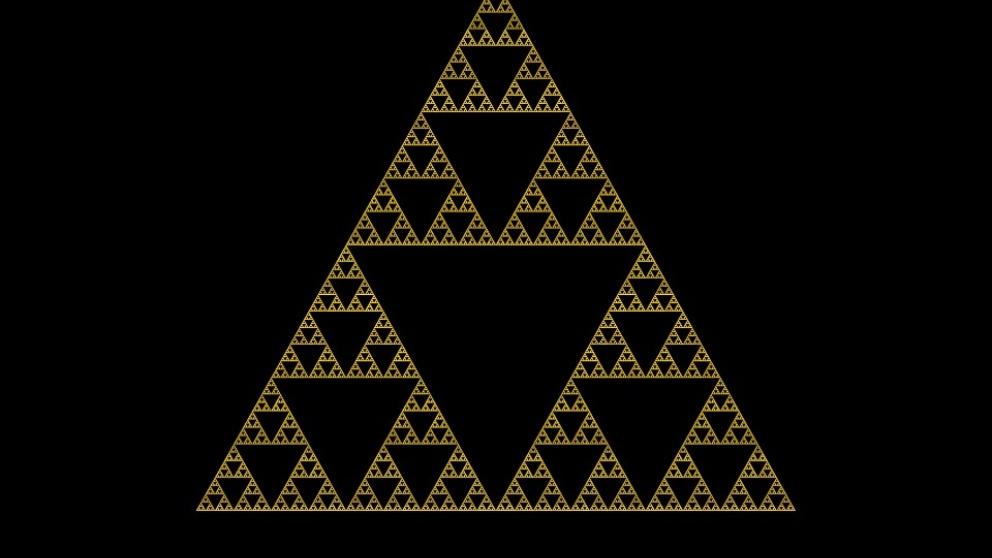 El triángulo de Sierpinski es uy conocido en matemáticas.