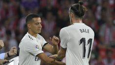 Lucas Vázquez, entrando por Bale en un partido.