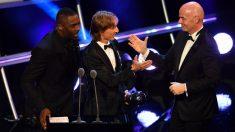 Modric, durante la entrega del premio The Best. (AFP)