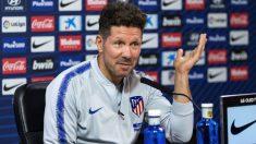 Simeone comparece en rueda de prensa. (EFE)