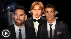 Messi, Modric y Cristiano, los grandes protagonistas del FIFA The Best.