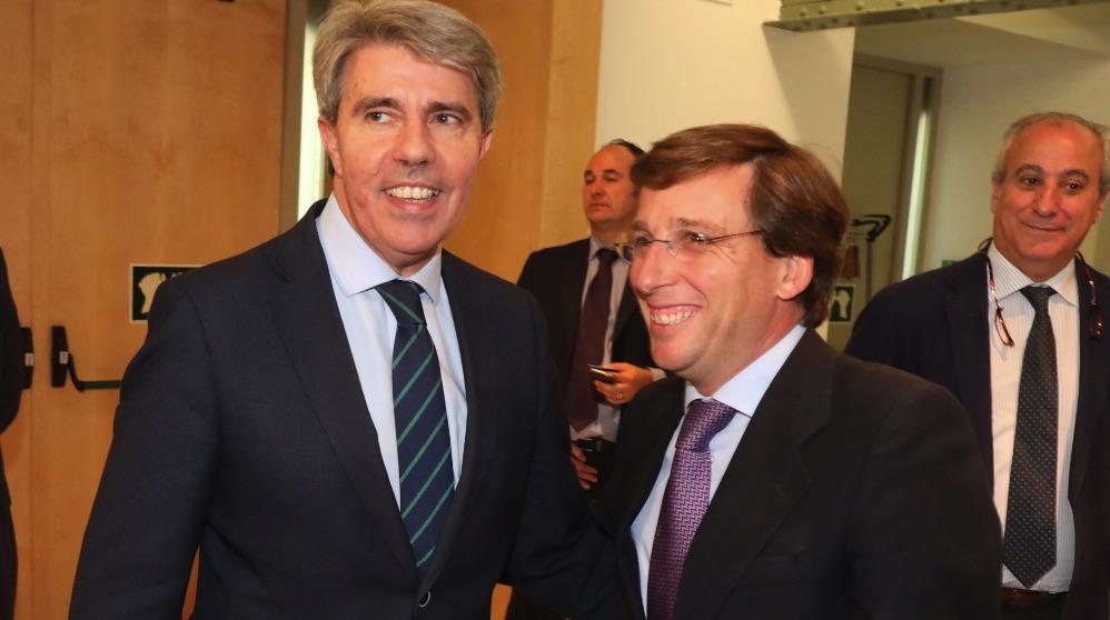 Ángel Garrido con José Luis Martínez-Almeida. (Foto. PP Madrid)