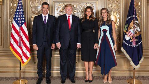 Pedro Sánchez y Begoña Góez con Donald y Melania Trump en Nueva York (Moncloa).