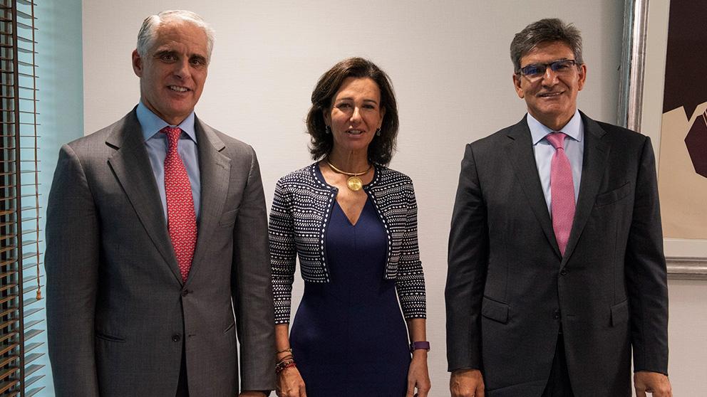 Andrea Orcel, Ana Botín y José Antonio Álvarez, actual CEO de Santander.