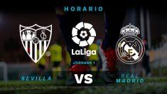 Liga Santander: Sevilla – Real Madrid   Horario del partido de fútbol de la Liga.