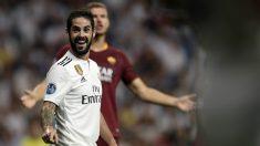 Isco, en un partido con el Real Madrid. (AFP)