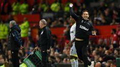 Lampard celebra un gol con Mourinho al fondo. (Getty)