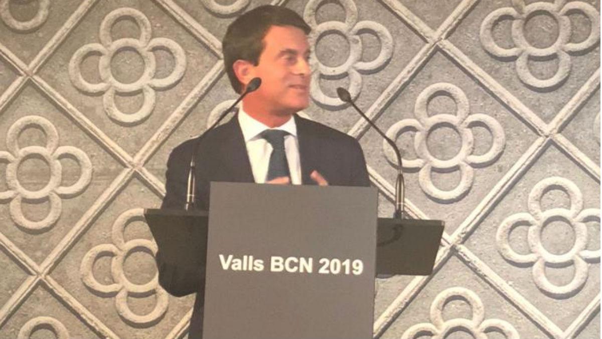 Manuel Valls en la presentación de su candidatura (RRSS).