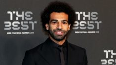 Mohamed Salah, a su llegada a los premios The Best. (Getty)