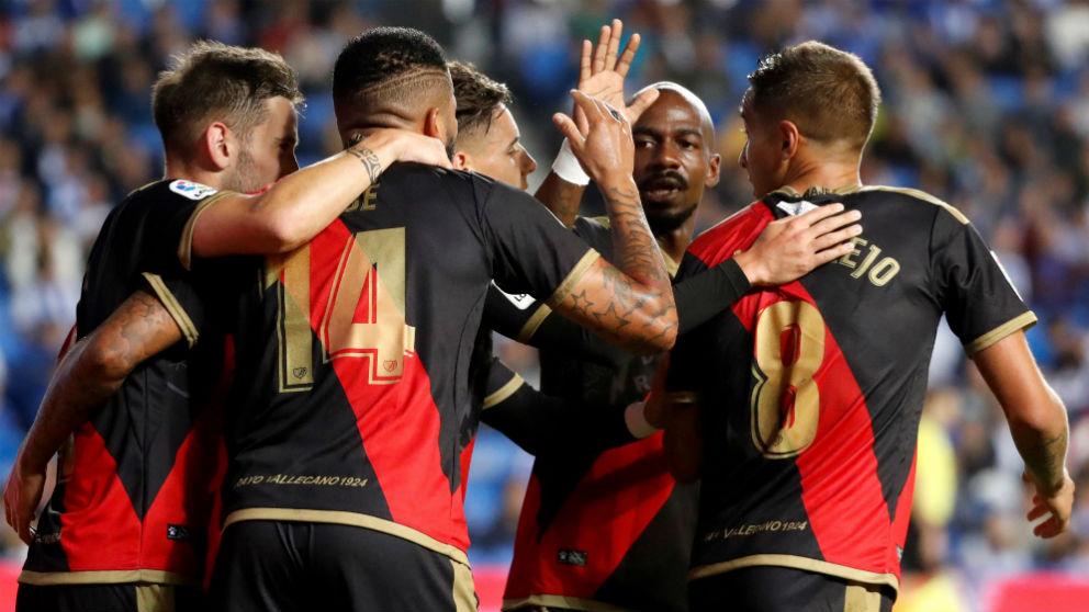 El Rayo Vallecano celebra un gol. (EFE)