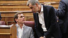 Albert Rivera y Toni Cantó, Congreso de los Diputados. (Foto: Francisco Toledo)