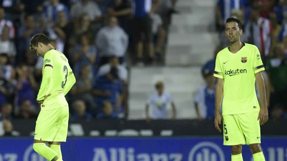 Sergio Busquets, durante un partido con el Barcelona. (AFP)