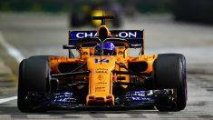 Fernando Alonso, en el Gran Premio de Singapur (Getty).