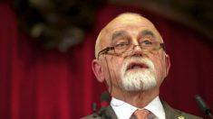 Jan Peumans, presidente del Parlamento flamenco (AFP).