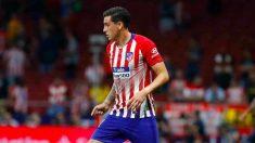 Giménez durante el partido contra el Huesca. (atleticodemadrid.com)