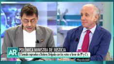 Juan Carlos Monedero y Eduardo Inda en 'El programa de Ana Rosa'.