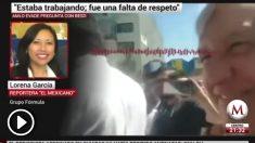 Andrés Manuel López Obrador besa a una periodista a la que no responde.
