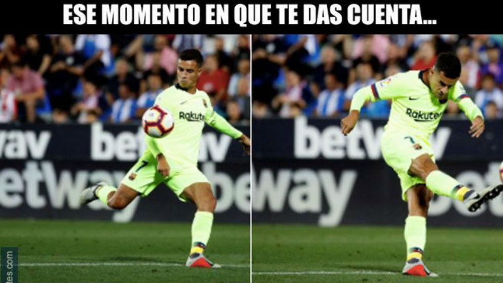 Los mejores memes del Leganés – Barcelona.