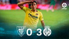 El Villarreal goleó al Athletic en San Mamés.