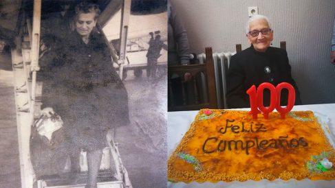 Dolores García Prieto, 100 años. Residente Las Candelas, Toreno