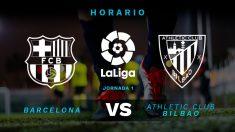Liga Santander 2018-19: Barcelona – Athletic | Horario del partido de fútbol de la Liga Santander.