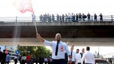 Manifestación de los VTC frente al Ministerio de Trabajo. (Foto: E. Falcón)
