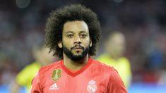 Marcelo, en el partido frente al Sevilla (AFP).