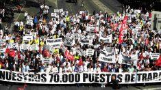 Manifestación de las VTC este jueves en el centro de Madrid