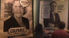 Carteles de Manuela Carmena y José Manuel Calvo. (Fotos. Twitter)