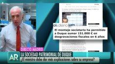 Eduardo Inda habla sobre Pedro Duque en 'El programa de Ana Rosa'.