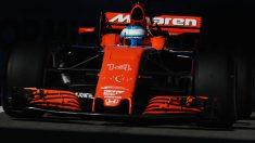 Fernando Alonso, en los libres del Gran Premio de Rusia. (Getty)