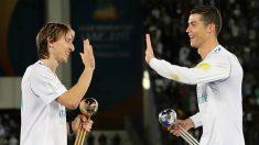 Modric y Cristiano Ronaldo, en su etapa en el Real Madrid. (AFP)