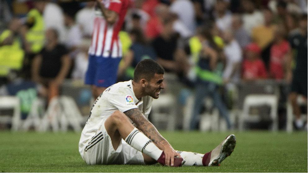 Ceballos, durante el derbi ante el Atlético. (AFP)