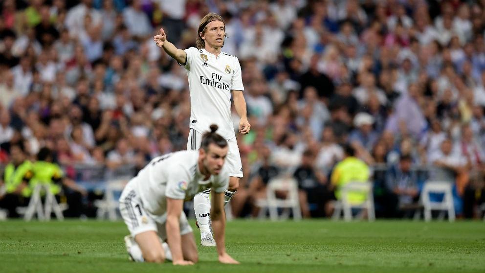Bale y Modric, durante un partido del Real Madrid. (AFP)