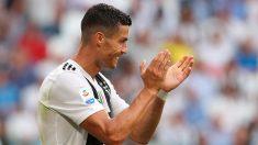 Cristiano Ronaldo durante un encuentro con la Juventus. (Getty)