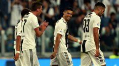 Cristiano Ronaldo celebra el gol de Mandzukic. (Getty)