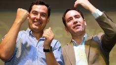 Juanma Moreno y Teodoro García Egea. (Foto: EFE)