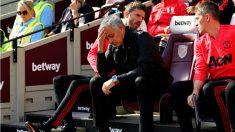 El United perdió contra el West Ham y Mourinho está al borde del despido. (Getty)