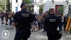 Mossos d´Esquadra en una reciente actuación en Barcelona